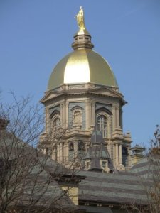 Golden dome of Notre Dame