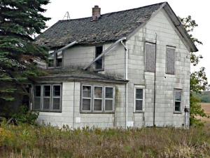 rundown house